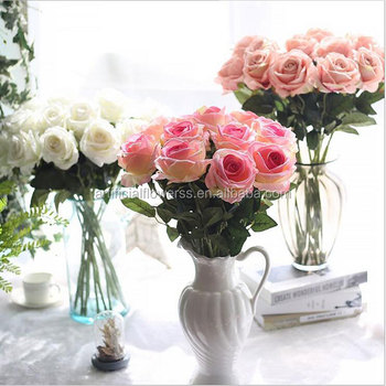 Artificial Flowers Real Touch Single Stem Artificial Silk Roses