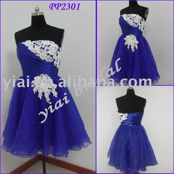 Pp2301 Short Blue Western Party Wear Dresses Birthday Dress Evening 21st