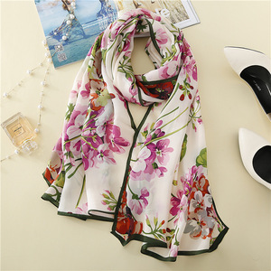 KTFL8064 the travel style excellent quality 180*65cm 100% real best gift silk scarf