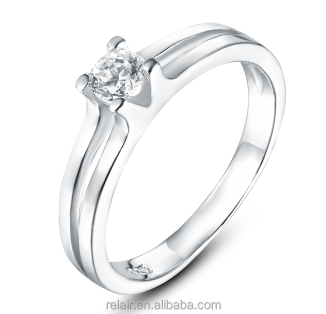 Wholesale single CZ 925 sterling silver ring for girl
