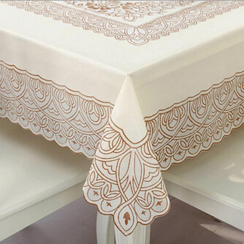 achetez en gros pvc dentelle nappe en ligne des grossistes pvc dentelle nappe chinois. Black Bedroom Furniture Sets. Home Design Ideas