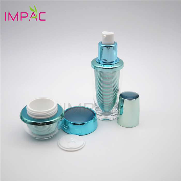 Facial Care Packaging Round Luxury Empty Cosmetic Container Set