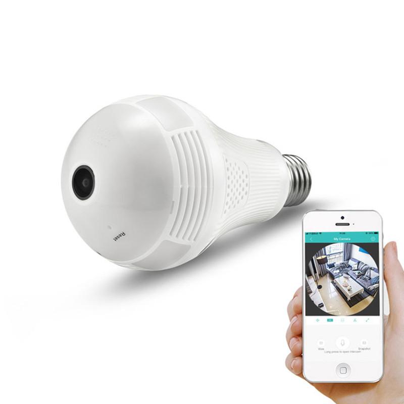 Wireless Wi-Fi E27 หลอดไฟ LED 960P VR กล้อง Panoramic IP Home Security กล้องวงจรปิดระบบกล้อง