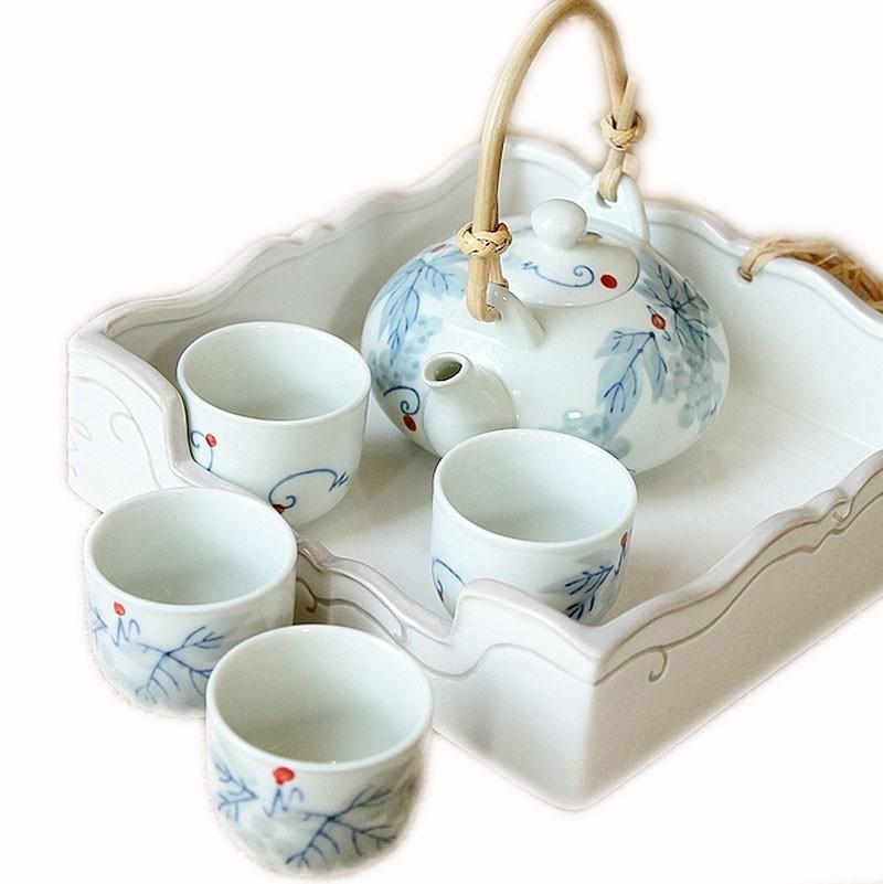 Acheter Petit Mignon Chinoise De Jingdezhen Tea Cups Set Theiere