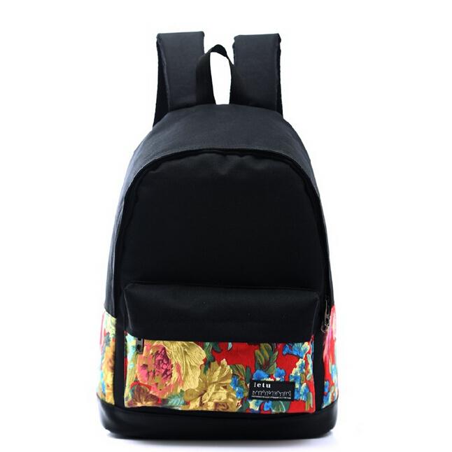 fd913bdce7b8 Get Quotations · ShineStar Girls Boys Canvas Multi-pattern Print Travel Backpacks  Teenagers School Bags Outdoor Simple Cute Shoulder