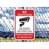PVC Reflective Film Security Traffic Video Surveillance Warning Cameras Sign Board