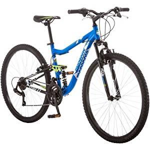 "27.5"" Mongoose Ledge 2.1 Men's Mountain Bike, Blue/Green"