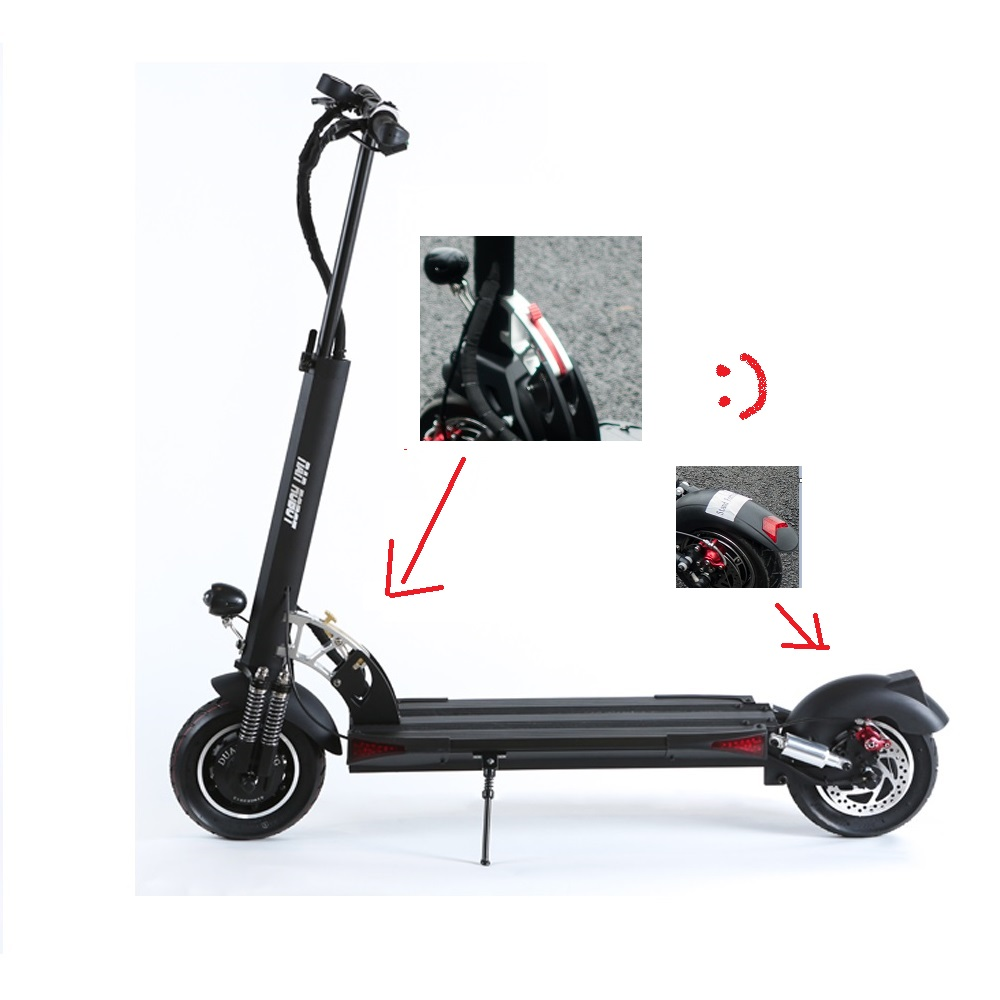 NANROBOT 2019 Newest Item D5+ 3.0 Update 10Inch Off Road 2000W Electric Scooter For Adult