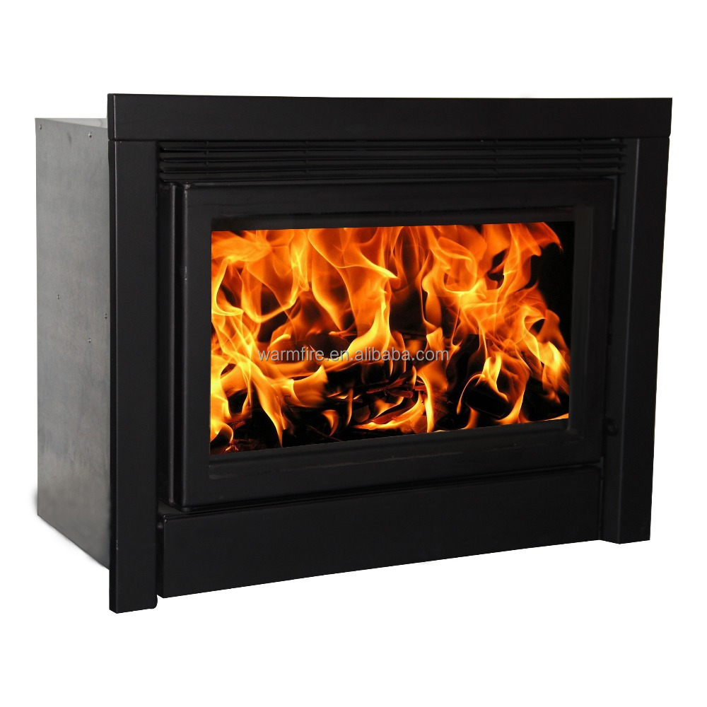 Big power Indoor insert wood long burning fireplace with fans wood stove