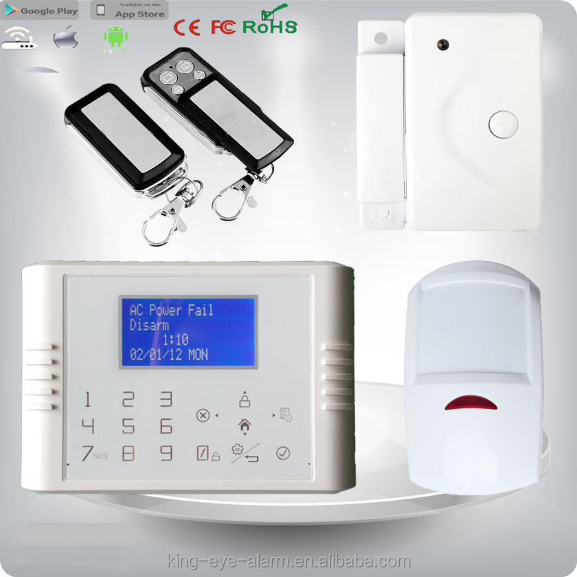 GSM+PSTN Dual network multi functional 34 zones smart home anti-theft alarm system security