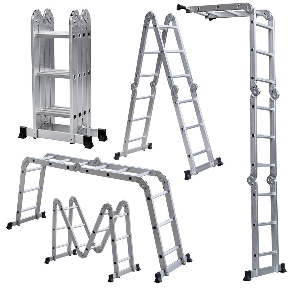 Aluminum Multi Purpose Folding Step Ladder for home fixing