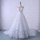 2018 fashion a-line lace chapel train alibaba wedding dresses gowns