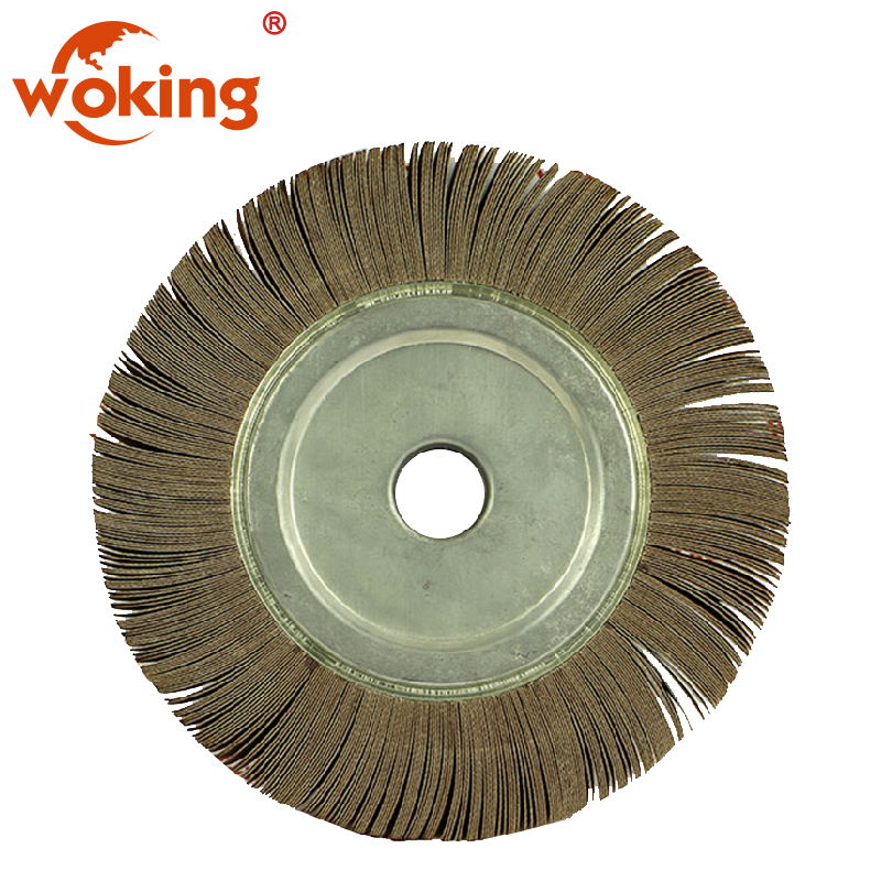 "Satin Finish 4/"" Wheel Aluminum Oxide Medium Grade 3 Ply Matt Brush Buff Wheel"