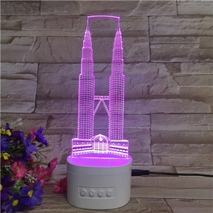Decorative night lamp 3D bluetooth light elegant tower bridge model