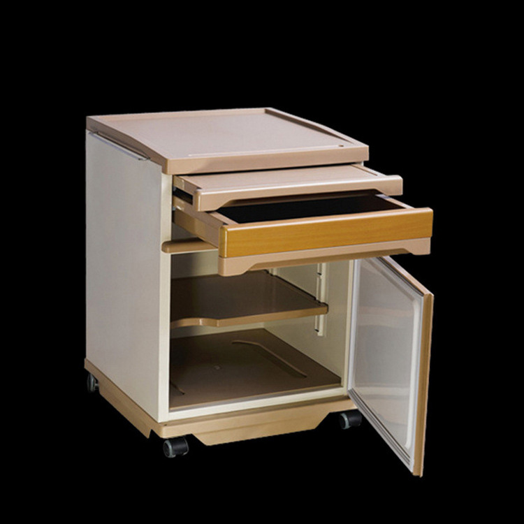 Medical Hospital Use Wooden Beside Drawer Cabinet With