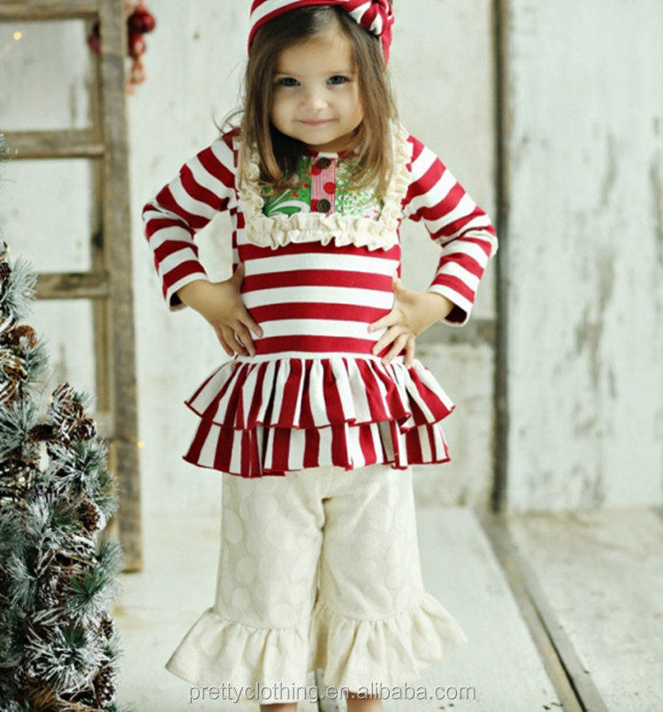 New Arrivals Persnickety Cotton Ruffle Polka Dots Ruffle Boutique Christmas Remake Clothes