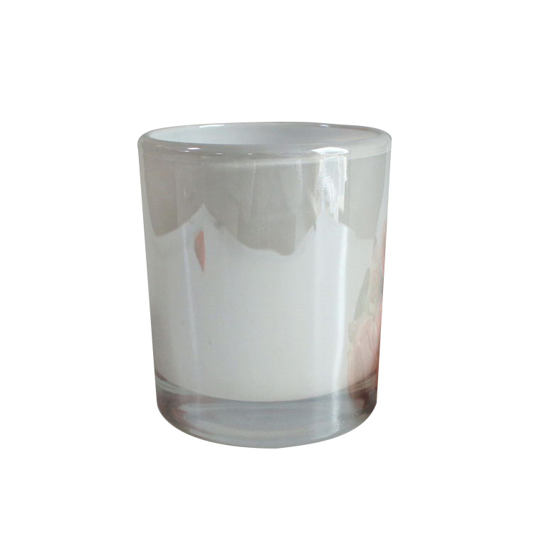 Lx-gb030 615ml Glossy White Glass Round Candle Tumblers Unique Candle Jars  Wholesale - Buy Unique Candle Jars,Glass Jars Wholesale,Glass Round Candle