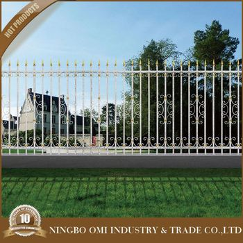 Used Wrought Iron Fence Metal Garden Fence Boundary Wall