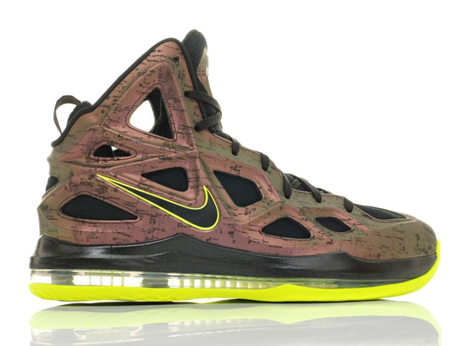 low priced ed85a bd1f4 Get Quotations · Nike Mens Air Zoom Hyperposite Dark Copper Black Volt  Basketball Shoes (653466-607)
