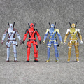 4pcs set Deadpool Action Figures Hot Toys Gift Marvel Super Hero light Doll Super Heroes PVC