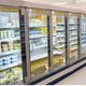 Supermarket Four Glass Doors Display Cabinets Commercial Beer Refrigeration