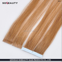 ZZH Wholesale price virgin human blonde curly tape hair extensions,Thick how to get a color platinum blonde