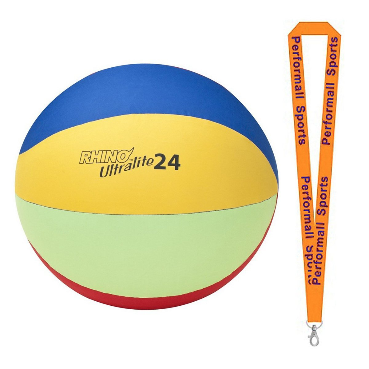 Champion Sports Bundle: Rhino Ultra-Lite Cage Ball Set Assorted Colors and Sizes with 1 Performall Lanyard