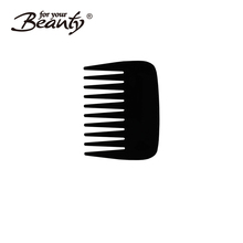 Factory wholesale black custom mini plastic beard shaping comb