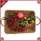 Food grade cheap products practical supermarket basket fruit display washable large rattan basket for wholesale