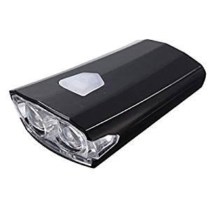Bicycle Headlight - TOOGOO(R) USB Rechargeable Bike Bicycle Cycle LED Front Head Headlight Light 3 Modes black
