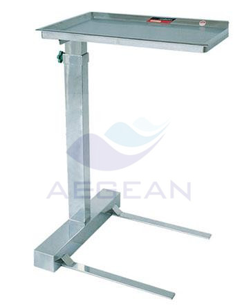 AG-SS008B height adjustable approved hospital medical frame tray stand with one post
