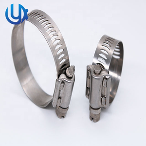 American worm type Clamp large torque stainless steel pipe clamp highquality European type hose clamp with best price hose clip