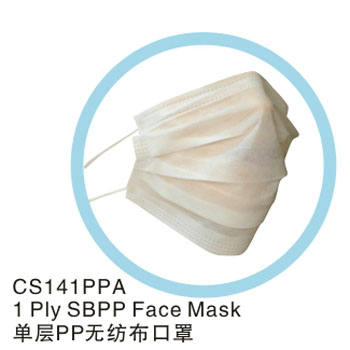 Medical raw materials SBPP nonwoven ear-loop ties on Type Disposable Face Masks
