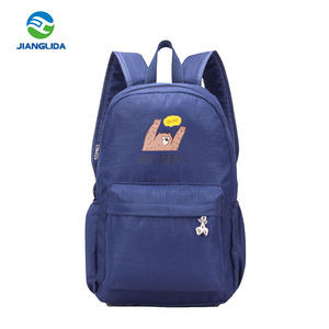 2018 wholesale fashion school bags for teen girls nylon backpack costom