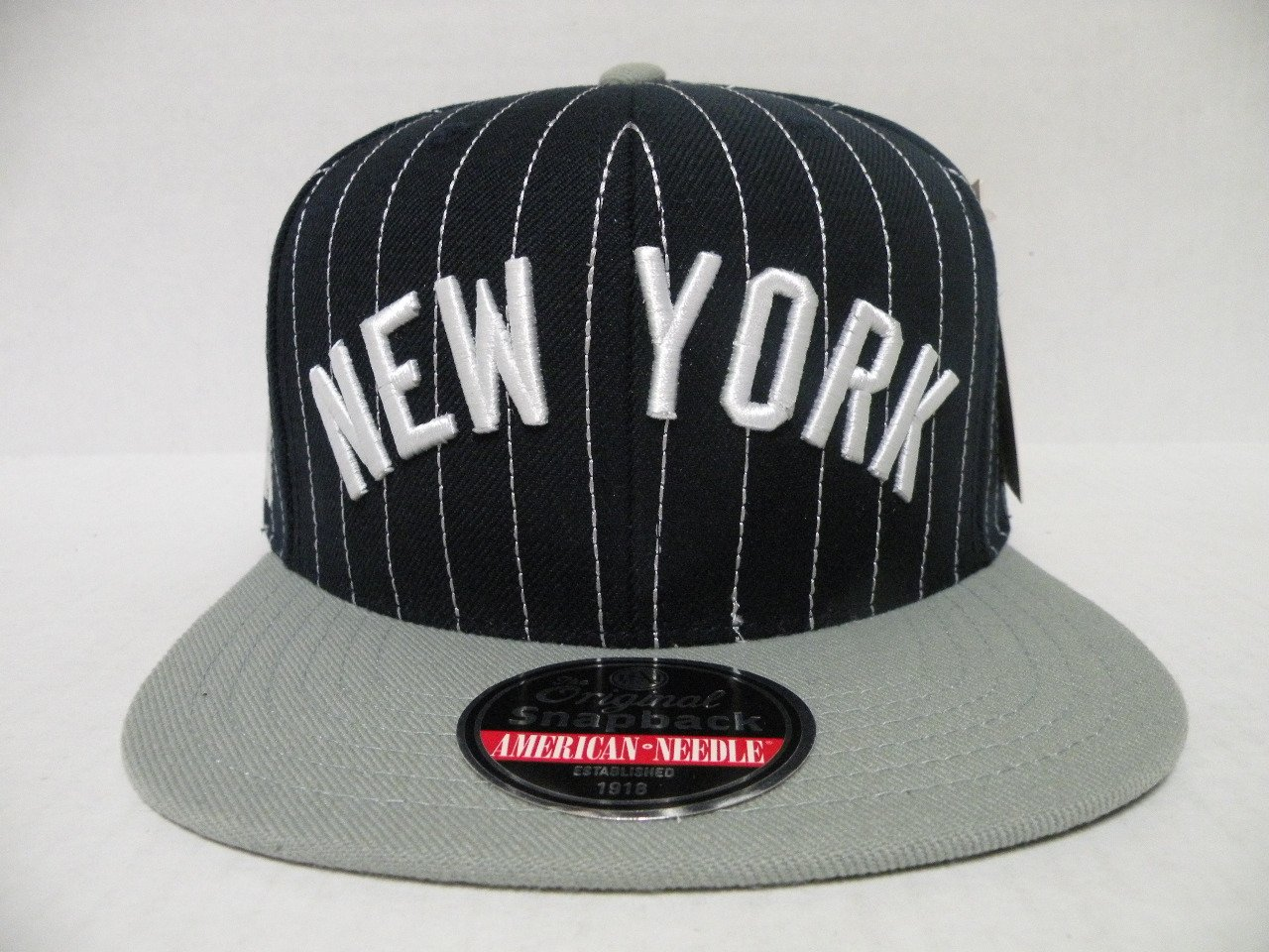 065af2652ed Get Quotations · MLB New York Yankees Pin Stripe 2 Tone Navy Gray Retro  Snapback Cap