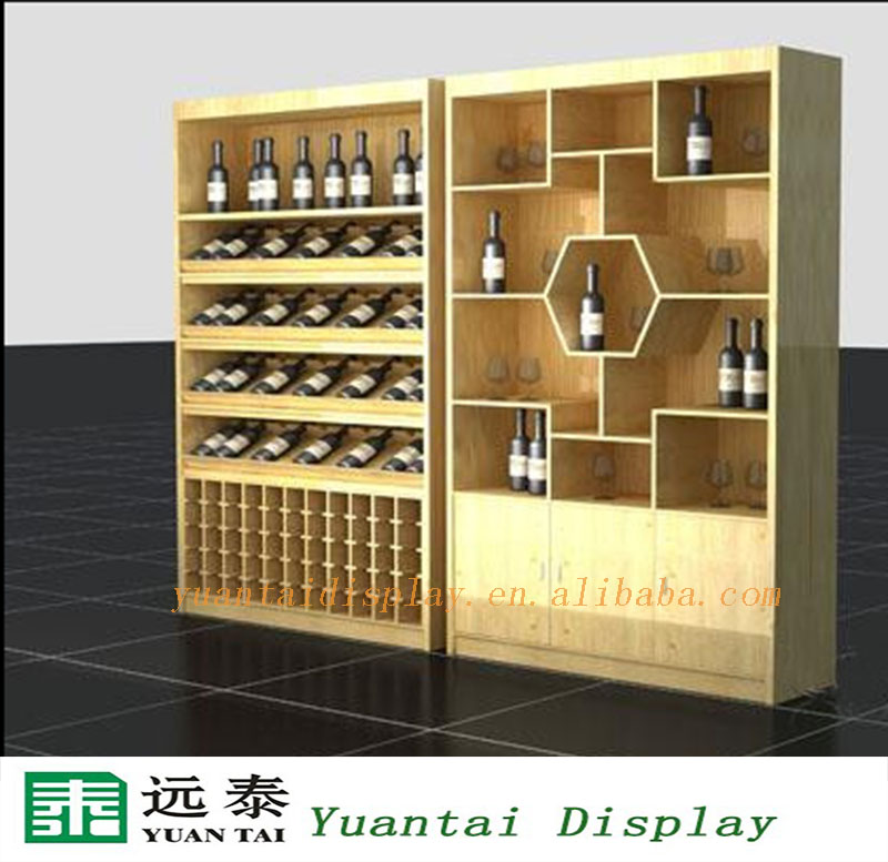 Charmant Wood Wine And Cigarette Display Cabinet For Shop Interior Design