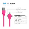 New Design colorful 1m length 5pin micro usb flat cable for data transmitted and charging with CE,Rohs