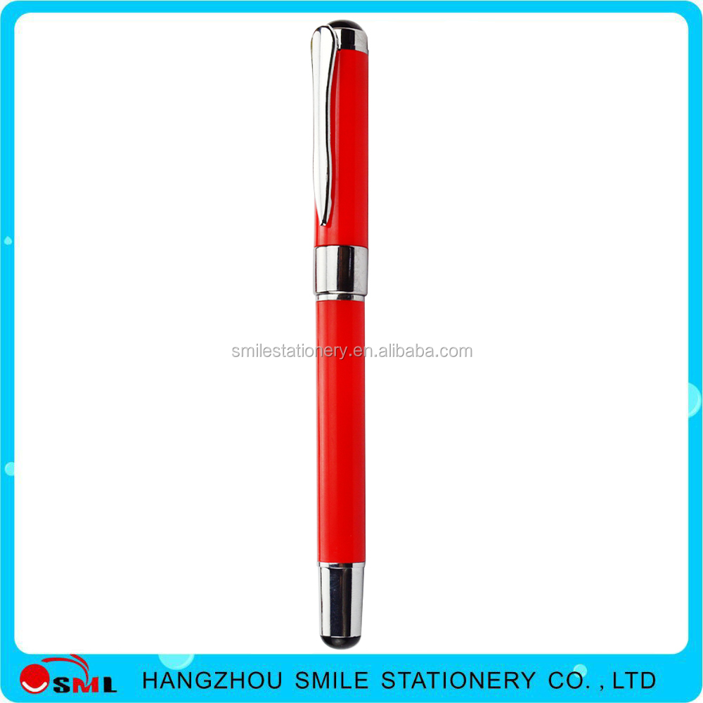 Classics custom logo plastic Large capacity refill ball pen with metal clip