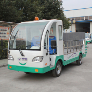 Eight barrels of electric drive four-wheel carrier/small waste truck container garbage truck for sale/eight drum