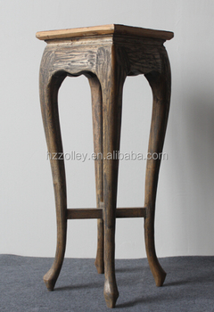 Hotel Lobby Furniture Side Table Antique Wooden Coffee Tables