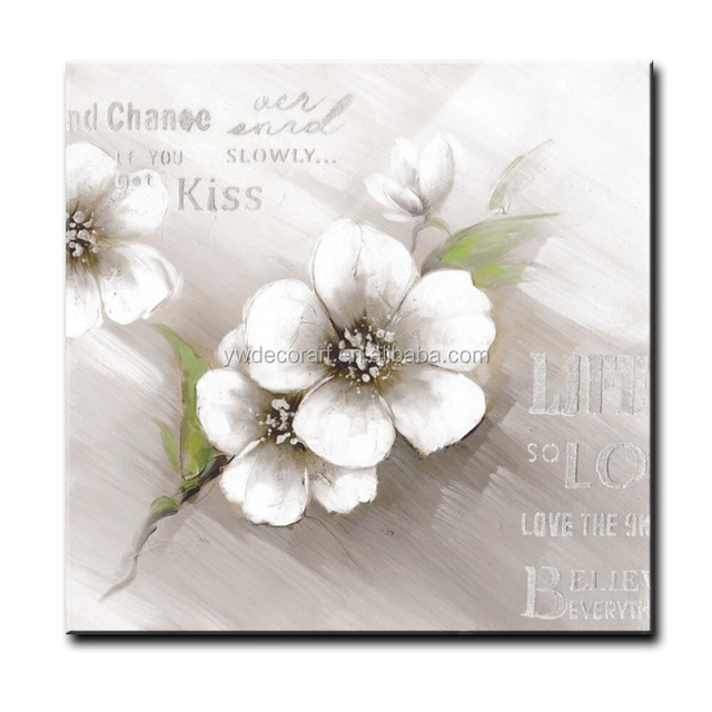 Buy cheap china white flower pictures products find china white new design wall picture white flower oil painting handmade art on canvas for wholesale mightylinksfo
