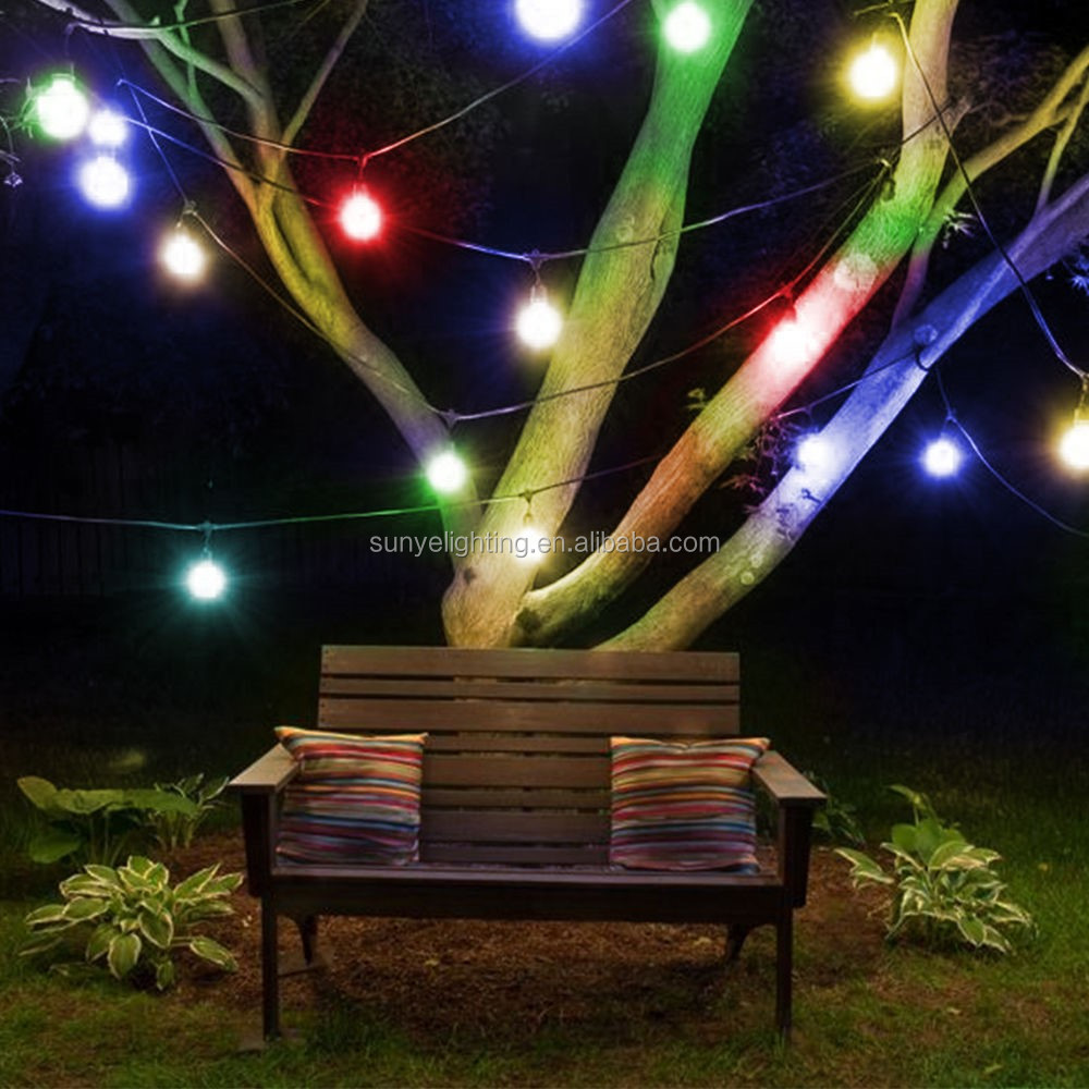 Color Changing String Lights With Remote : 48-feet Led Outdoor Weatherproof String Light Color Changing Rgb Light String Dimmer String ...