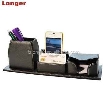 Office Table Accessories Pu Leather Pen Stand Buy Faux Leather Desk Organizer Card Holder Pen Stand Desk Leather Pen Holder Product On