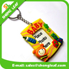 custom window photo frame soft pvc rubber keyring