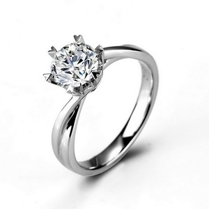 5% Discount 1CT F Color Moissanite Ring 18K White Gold Wedding Moissanite Ring Hot Sale Price