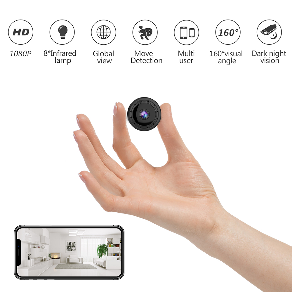 World Smallest Hidden Video Camera Smart Wifi Remote Control Anti-theft Video Camera Indoor Wifi Motion Detection Spy Camera