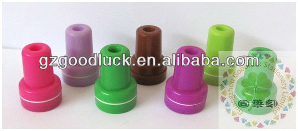 Handy ring type toy plastic self inking stamp/Portable ring type toy plastic self inking stamp