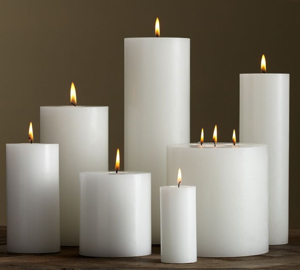 China factory marriage decoration classic votive white pillar candle