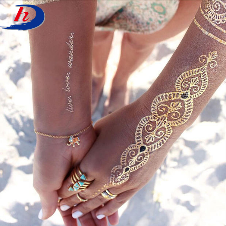 Custom India White Ink Henna Lace Wedding Stencils Removal Body Temporary Sticker Tattoo