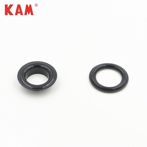 KAM Plastic elongate oval round eyelets with different design in colors